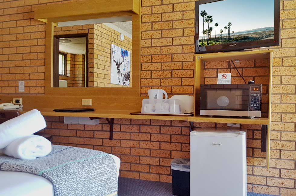 All rooms are non-smoking, air-conditioned, and offer various amenities at Royal Palms Motor Inn Coffs Harbour NSW.